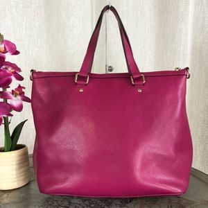 e95c76e12b66 Coach Bags - Coach Pleat Tote In Pink Crossgrain Leather F34680